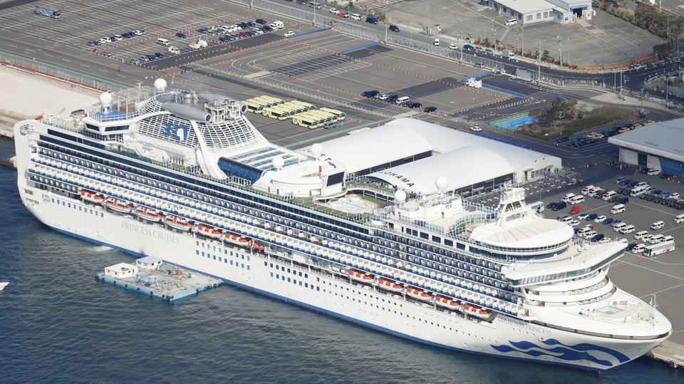 Loď Diamond Princess.